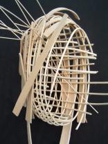 structure nº 7 (vue a) -2003 bois -25x30x35cm