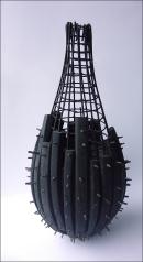 la mémoire de l'eau - 2006 caoutchouc/fer 56x25 cm