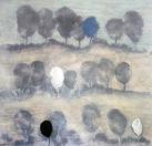 record d'un cel blau la tardor de 1975 (100 x 100 cm)