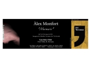 Tarjetó per l'exposició del poeta visual Àlex Monfort (2010)